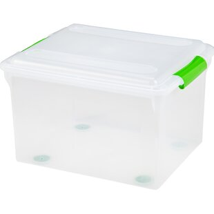 In Discreet Small Plastic Transparent With Lid Collection Container Case Storage Box Stationery Holder Superior Quality