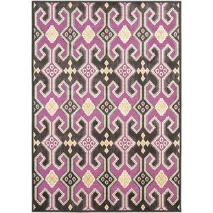 Great Price Saint-Michel Fuchsia / Purple Floral Rug By Bungalow Rose