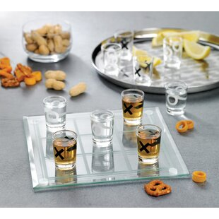 Veliz 10 Piece Tic-Tac-Toe Shot Glass Set