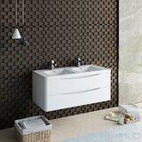 Senza Tuscany 47 Wall-Mounted Double Bathroom Vanity Set by Fresca