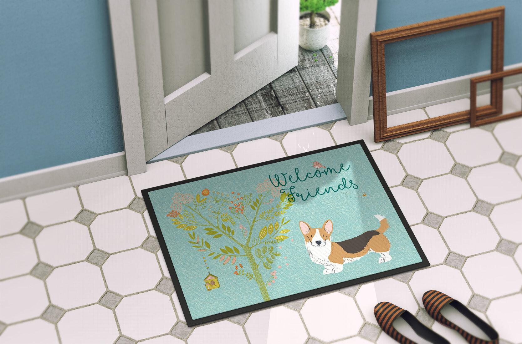 Winston Porter Yonker Pembroke Welsh Corgi Tricolor Doormat | Wayfair