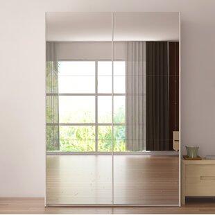 Brayden Studio Zastrow Modern 3 Drawers Armoire with Sliding Doors