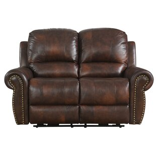 Shop Brode Power Leather Reclining Loveseat by Darby Home Co