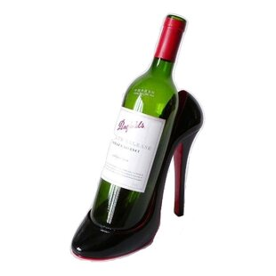 Grasty Stiletto Shoe 1 Bottle Tabletop Wine Rack