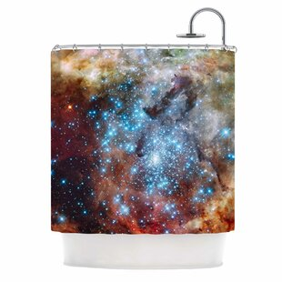 Star Cluster By Suzanne Carter Space Shower Curtain