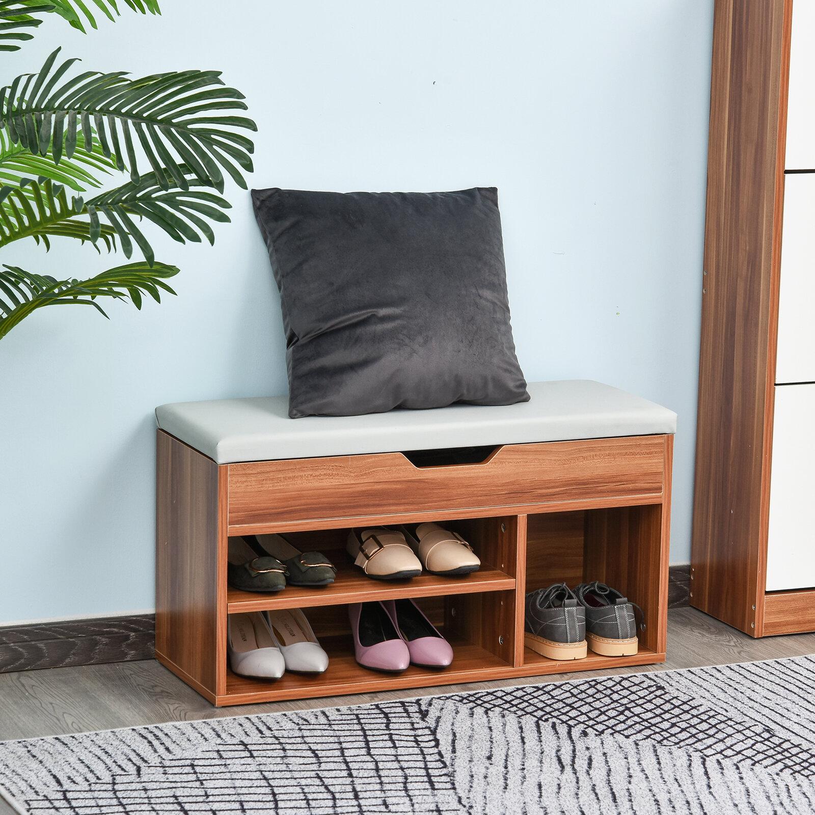 Latitude Run 6 Pair Shoe Storage Bench Reviews Wayfair