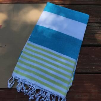 Highland Dunes Prado Cheerful Rainbow Heart Pestemal Turkish Cotton Beach Towel Wayfair
