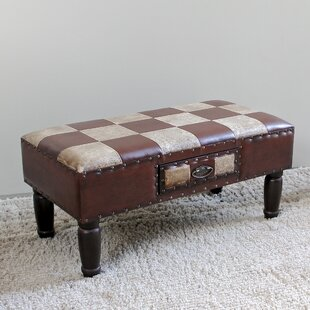 Stone Castle Faux Leather Bench