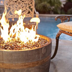 Tretco Cement Wine Barrel Fire Pit