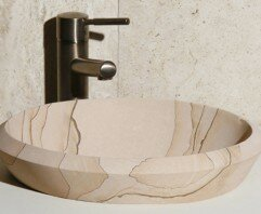 Great Price Stone Circular Drop-In Bathroom Sink By Allstone Group