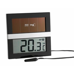 Solar Powered Digital Thermometer By Symple Stuff