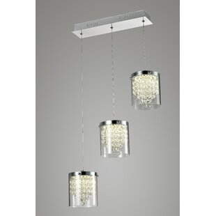 Oberon 3-Light LED Crystal Chandelier by ..