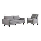 Idris Reclining 2 Piece Leather Living Room Set by Modern Rustic Interiors