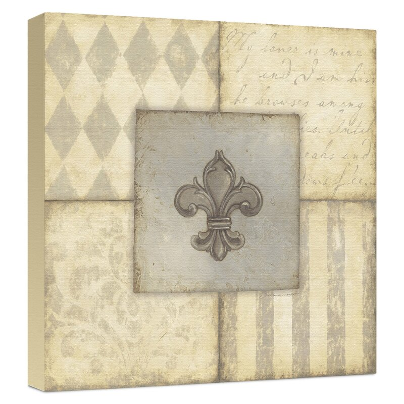 Trends Fleur De Lis I Graphic Art on Wrapped Canvas