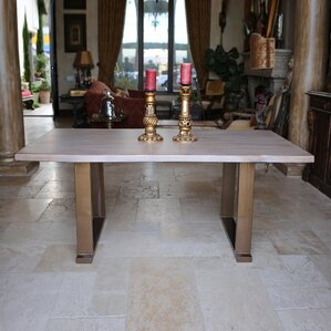 Danni Steel Dining Table by Gracie Oaks