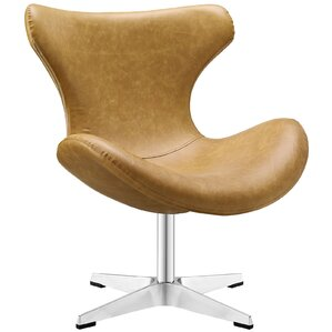 Helm Vinyl Lounge Chair by Modway