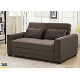 Winston Full Tufted Back Convertible Sofa by Serta