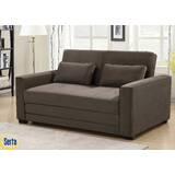 Winston Full Tufted Back Convertible Sofa by Serta