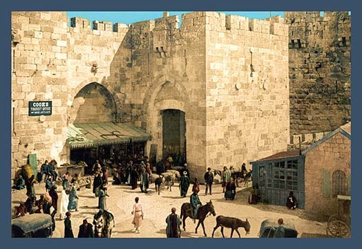 'The Jaffe Gate' by Detroit Photographic Company Photographic Print