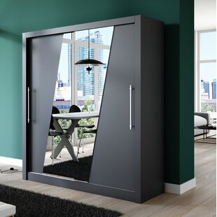 Khalil 2 Door Sliding Wardrobe By Ebern Designs