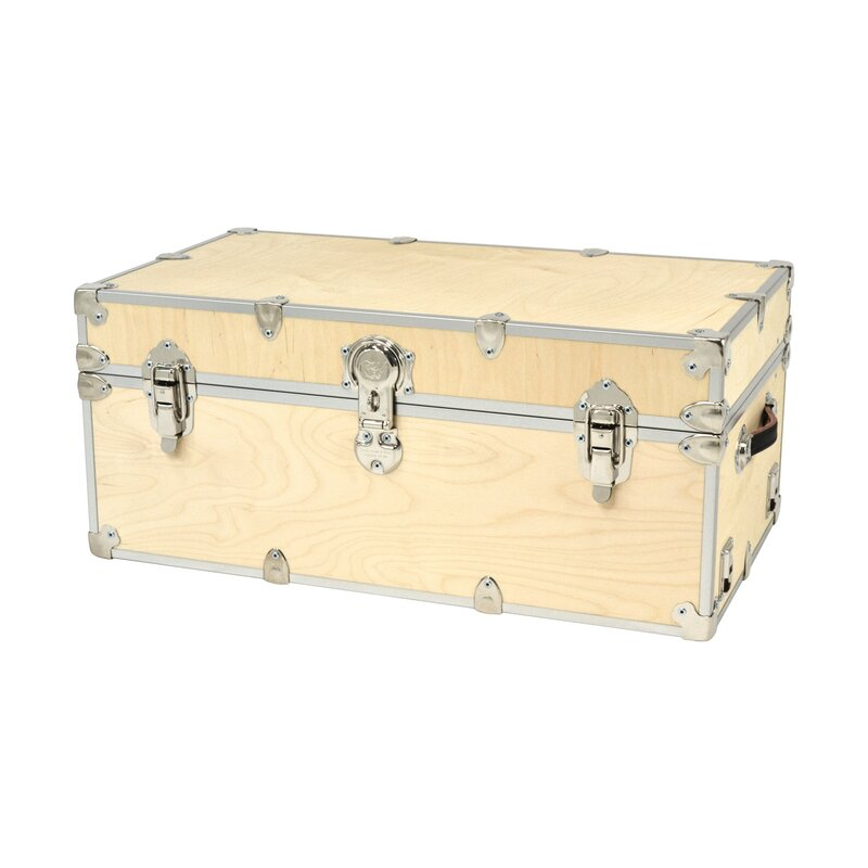 Lucasville Domestic Heirloom Naked Birch Wood Storage Trunk