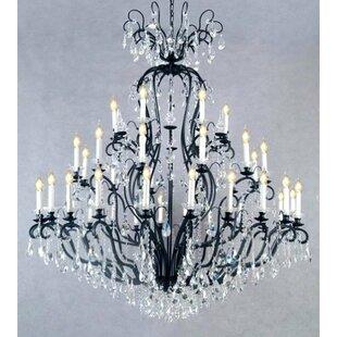 Rosdorf Park Clemence 41-Light Candle Style Chandelier