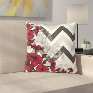 Santini Chevron Floral Throw Pillow