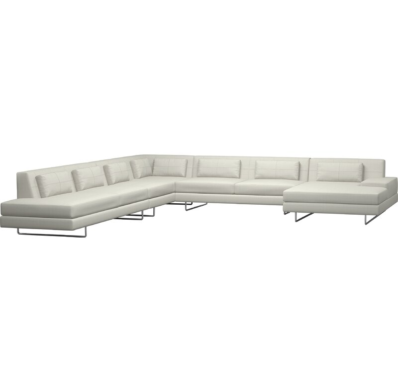 TrueModern Hamlin XL Corner Sectional With Chaise