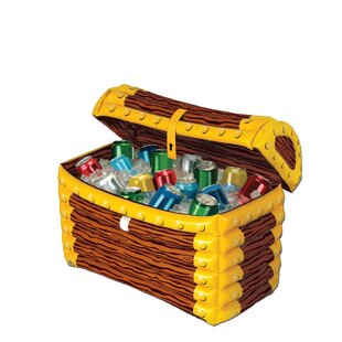 The Beistle Company 48 Can Inflatable Treasure Chest Cooler