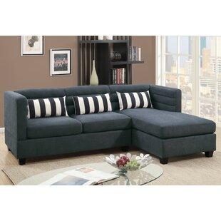Aldridge Fabric Chaise Sectional by Grovelane Teen