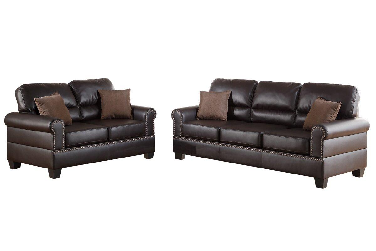 Charlton Home Boyster 2 Piece Living Room Set & Reviews | Wayfair