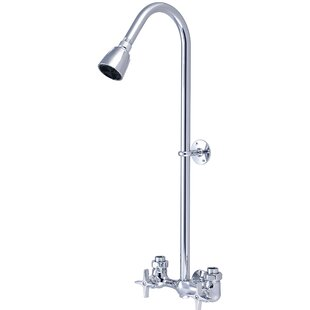 Double Handle Shower Faucet.Double 4 Arm Handles Exposed Shower Faucet