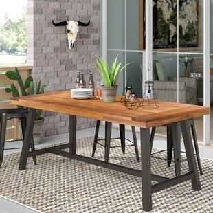 Tables en métal de jardin: Matériau du plateau de table - Bois ...