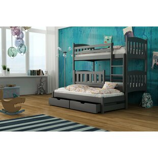 Kellogg Single 3' Bunk Bed With Trundle And Drawers By Harriet Bee