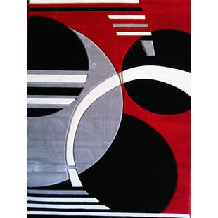 Best Geo Hand-Tufted Red Area Rug ByRug Factory Plus