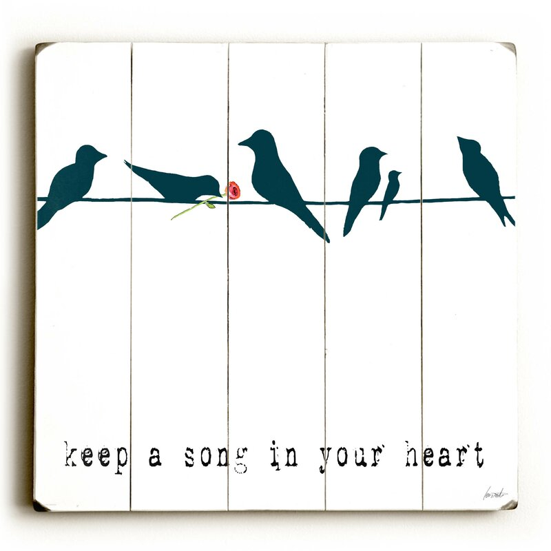 Artehouse Llc Keep A Song Graphic Art Print Multi Piece Image On Wood Wayfair