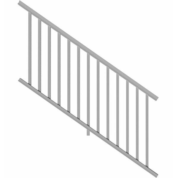 10 ft Iron Handrail Railing Hand Rail Steel split in 2