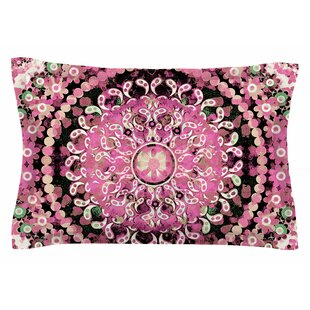 Nina May 'Pink Mosaic Mandala' Illustration Sham by East Urban Home Bargain