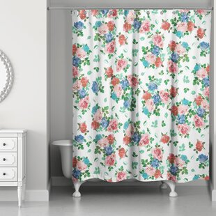 Attrayant Filleti Vintage Rose Garden Shower Curtain
