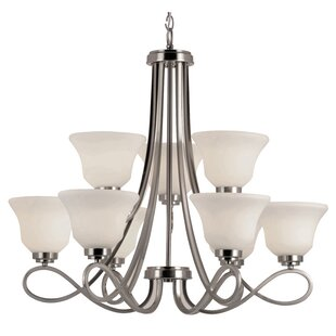 Winston Porter Cavallacci 9-Light Shaded Chandelier