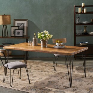 Vikesha Solid Wood Dining Table by Union Rustic