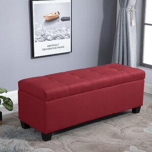 Vera Tufted Storage Ottoman by Charlton Home