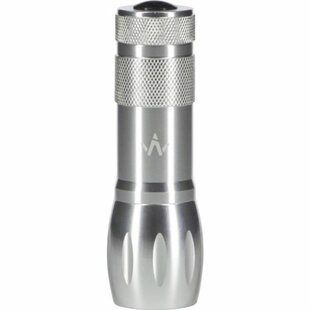 Crowder Silver Battery Powered LED Outdoor Flashlight By Freeport Park