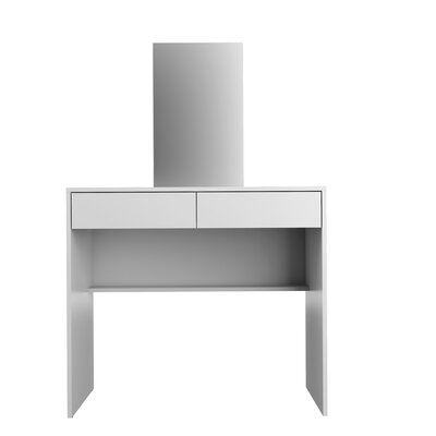2 Drawer Vanity with Mirror by Boahaus