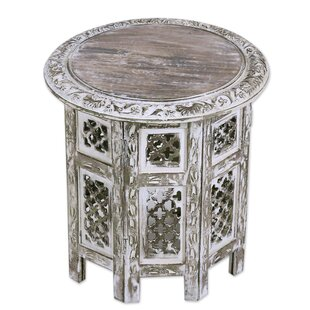 Laoise Kashmir Jali Wood End Table