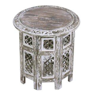 Laoise Kashmir Jali Wood End Table
