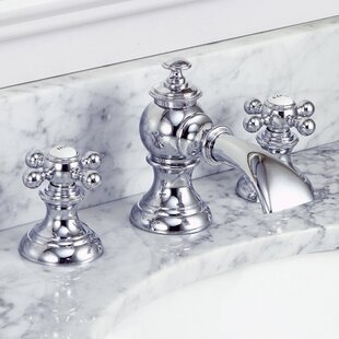 Modern Classic Widespread Bathroom Faucet with Drain Assembly By dCOR design