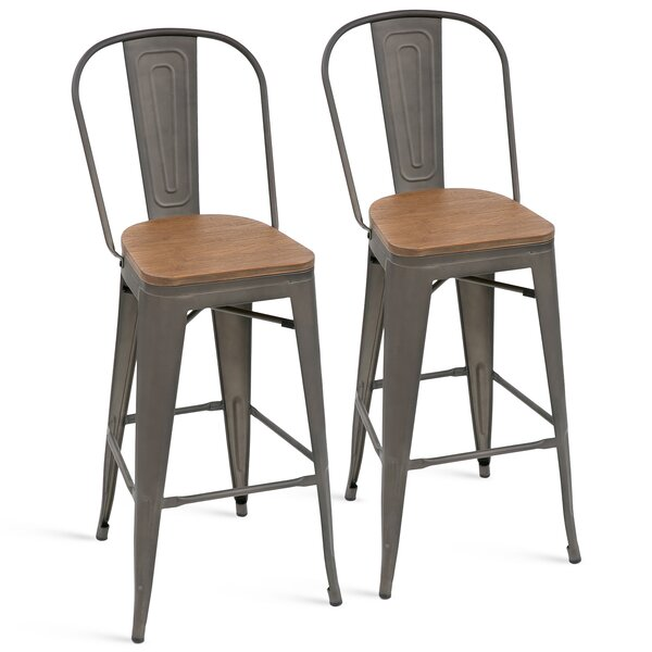 Phenomenal Extra Wide Seat Bar Stools Wayfair Caraccident5 Cool Chair Designs And Ideas Caraccident5Info