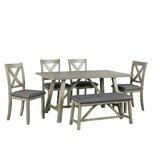 Nil 6 Piece Dining Set (Set of 5) by Gracie Oaks