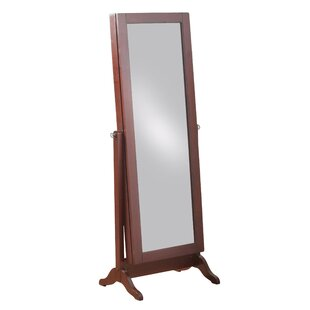Red Barrel Studio Peddie Sliding Jewelry Armoire with Mirror